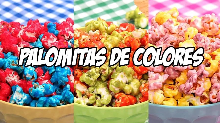 Como hacer palomitas de diferentes colores